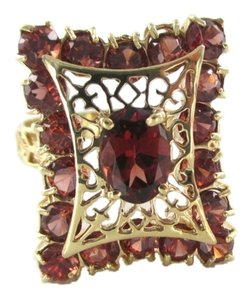 Other 14KT SOLID YELLOW GOLD RING FILIGREE VINTAGE FINE JEWELRY 4.5 GRAMS STONES TREND