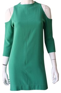 Tibi short dress Green Sheath Cold Shoulder on Tradesy