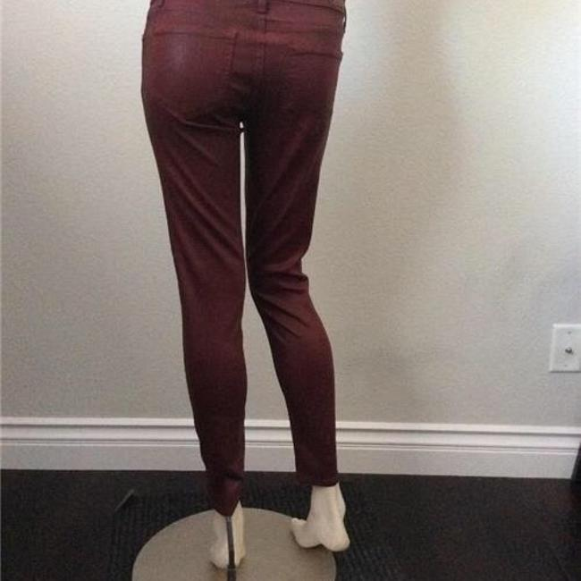Paige Skinny Pants Red Coated
