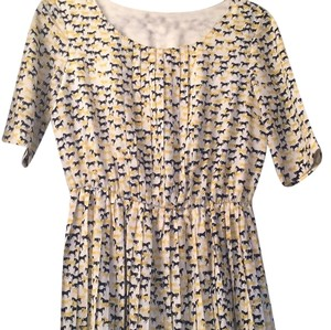 Daniel Cremieux short dress White w/yellow and navy detail on Tradesy