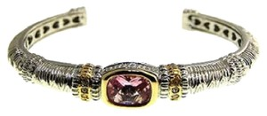 MX Collection Pink Stone & CZ Bangle Bracelet - Brand New