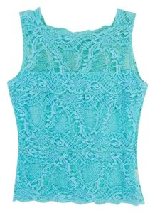 Kay Celine Lace Stretchy Top Turquoise