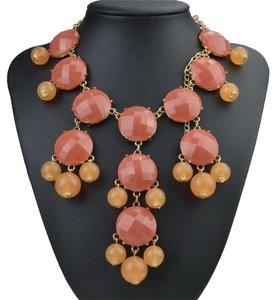 New Long Multi Color Bubble Statement Necklace