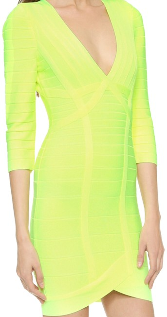 Preload https://img-static.tradesy.com/item/14145868/herve-leger-neon-yellow-nathalia-above-knee-night-out-dress-size-8-m-0-3-650-650.jpg