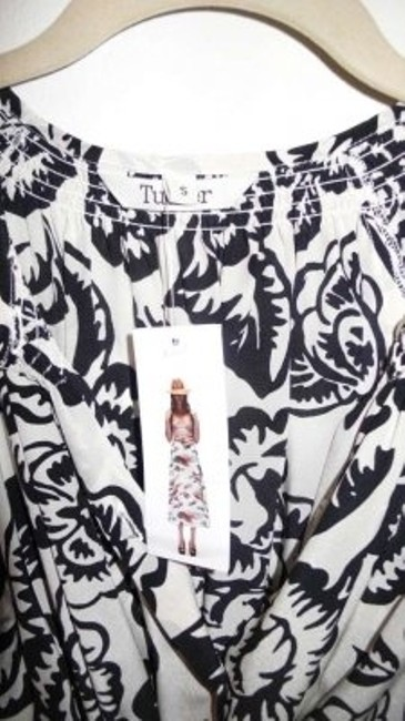 Tucker short dress Black and white patterned on Tradesy