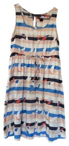 H&M short dress Multi Sailing Mini Tie-waist Cotton Sailboat Orange Blue White Sleeveless on Tradesy