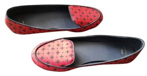 Gap Loafers Navy Print W8 red Flats