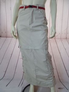 Other Subway Juniors Full Length Zip Off Mini Zippers Pockets Snaps Chic Skirt Khaki