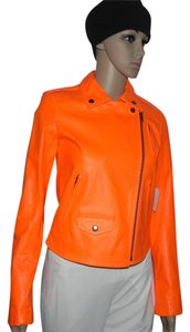 Theory Orange Leather Jacket