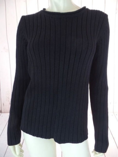 Preload https://img-static.tradesy.com/item/14146777/ralph-lauren-sweater-pullover-black-thick-rib-knit-rolled-collar-warm-chic-0-0-650-650.jpg