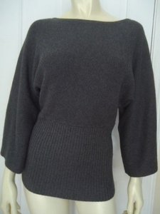 Anne Klein Ps Cotton Rabbit Hair Soft Rib Waist Dolman Chic Sweater