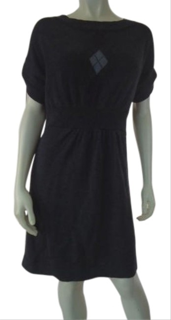 Ann Taylor Loft Sweater Dress Dark Gray Heather Acrylic Wool Stretch Blend Hot Image 0