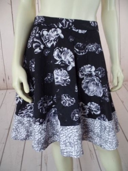 Prabal Gurung for Target Spandex Stretch Skater Hot Skirt Black, White, Gray