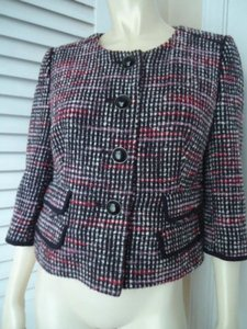 Ann Taylor LOFT Ann Taylor Loft Blazer Coat Retro Mod Mad 60s Wool Cotton Lined Sooo Cute