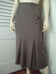 Other Burberrys Long Fluted Inverted Pleats Lined Made In Italy Skirt Olive Green