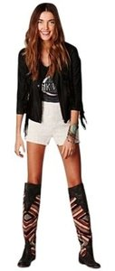 Free People Cut Off Shorts Off-White with Black lining