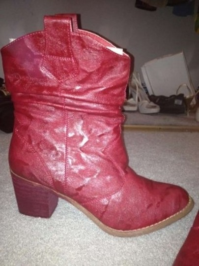 WOW Heeled Cowboy Red Boots
