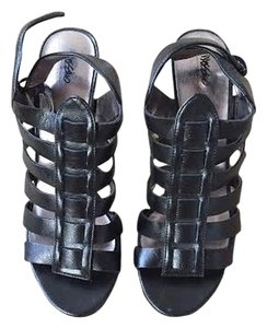 Mossimo Supply Co. Heels Strappy Straps Buckle Black Sandals