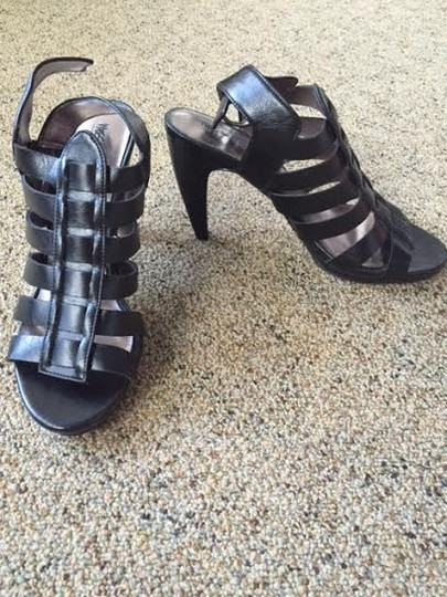 Mossimo Supply Co. Heels Strappy Straps Buckle Black Pumps