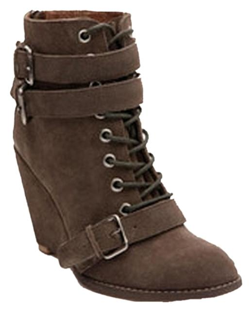 Brown By Ld Tuttle Laced Wedge Boots/Booties Size US 10 Regular (M, B) Brown By Ld Tuttle Laced Wedge Boots/Booties Size US 10 Regular (M, B) Image 1