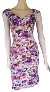 London Times Tiered Floral Stretch Dress