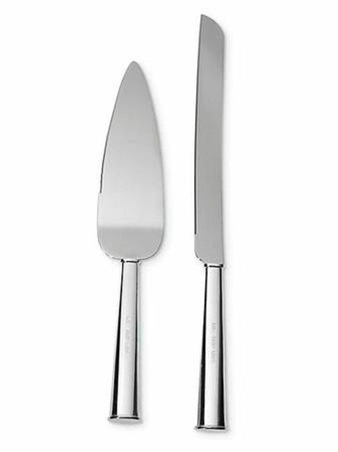 Item - Silver Mr. and Mrs. Cake Cutting Set