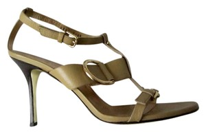 Dolce&Gabbana Dolce & Gabbana Strappy Gold Buckles Olive Stiletto Olive, Gold Sandals