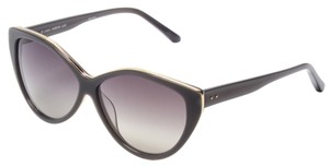 Linda Farrow Luxe Linda Farrow Luxe Acetate Gradient Gold Trim Cat Eye Cateye Sunglasses