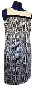 Dana Buchman short dress Black & Beige Linen Textured on Tradesy