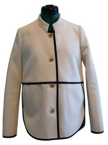 J.Crew Classic Perfect For Spring Ecru with Black Trim Jacket