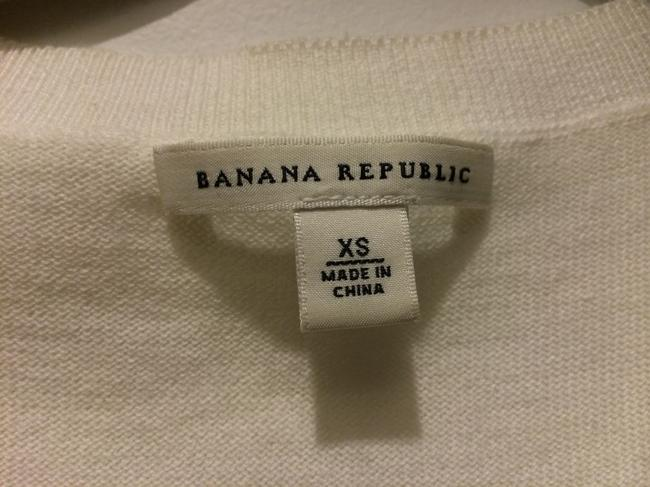 Banana Republic Buttons Detailed Holiday Quarter Sleeve Sweater