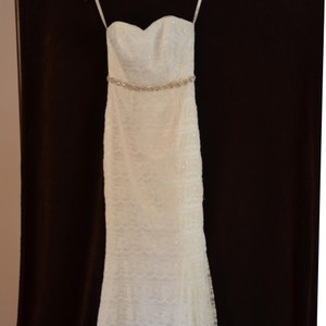 Galina Ivory Lace Custom Made Vintage Wedding Dress Size 4 (S)