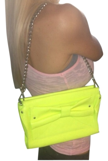 Item - Neon Yellow Leather Clutch
