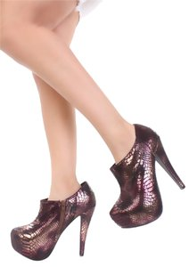 amiclubwear Boot Bootie Bronze Boots