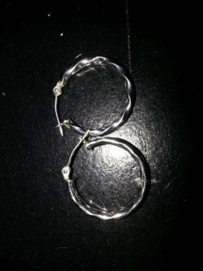 Zales Simple Silver Spiral Sterling Silver Hoops