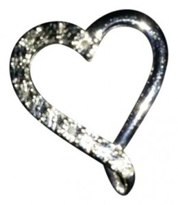 Zales Diamond Accented Heart Charm