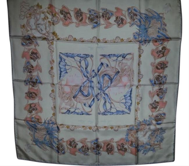 Lalique Ivory with Soft Blues Peach and Gold Paris Collectors Edition Silk Scarf/Wrap Lalique Ivory with Soft Blues Peach and Gold Paris Collectors Edition Silk Scarf/Wrap Image 1