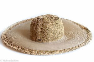 Nine West Nine West Scalloped Sheer Super Floppy Hat Natural