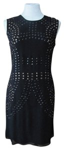 Cynthia Rowley short dress Black Excellent Condition Studded on Tradesy