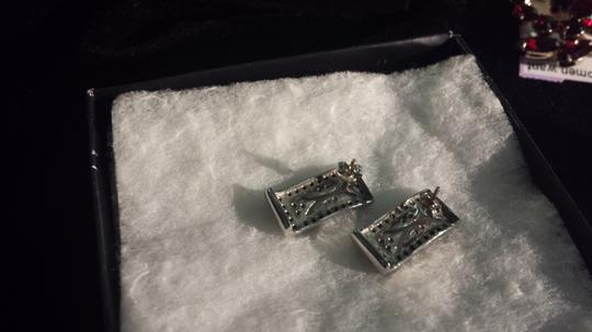 unknown Persian white gold and sapphire earrings