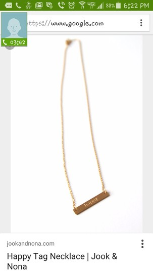 Jook and Nona Jook and Nona Happy 18k gold plated necklace