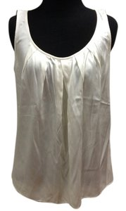 St. John St Platinum Sleeveless Silk Top Ivory