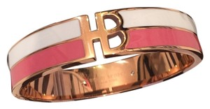 Henri Bendel New Henri Bendel Logo Split Heritage Enamel Bangle Rose Gold Plated