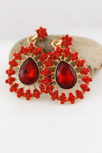 0 Degrees Beautiful Red Sapphire Drop Earrings!