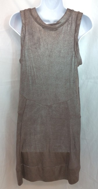 Marc by Marc Jacobs Brown Stretchy Shift Dress Image 3