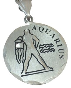 pewter Blackinton pewter Aquarius necklace