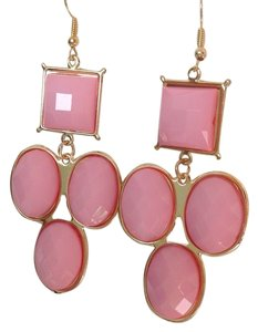 0 Degrees New Fashion Gold Assorted Earrings In Pink!