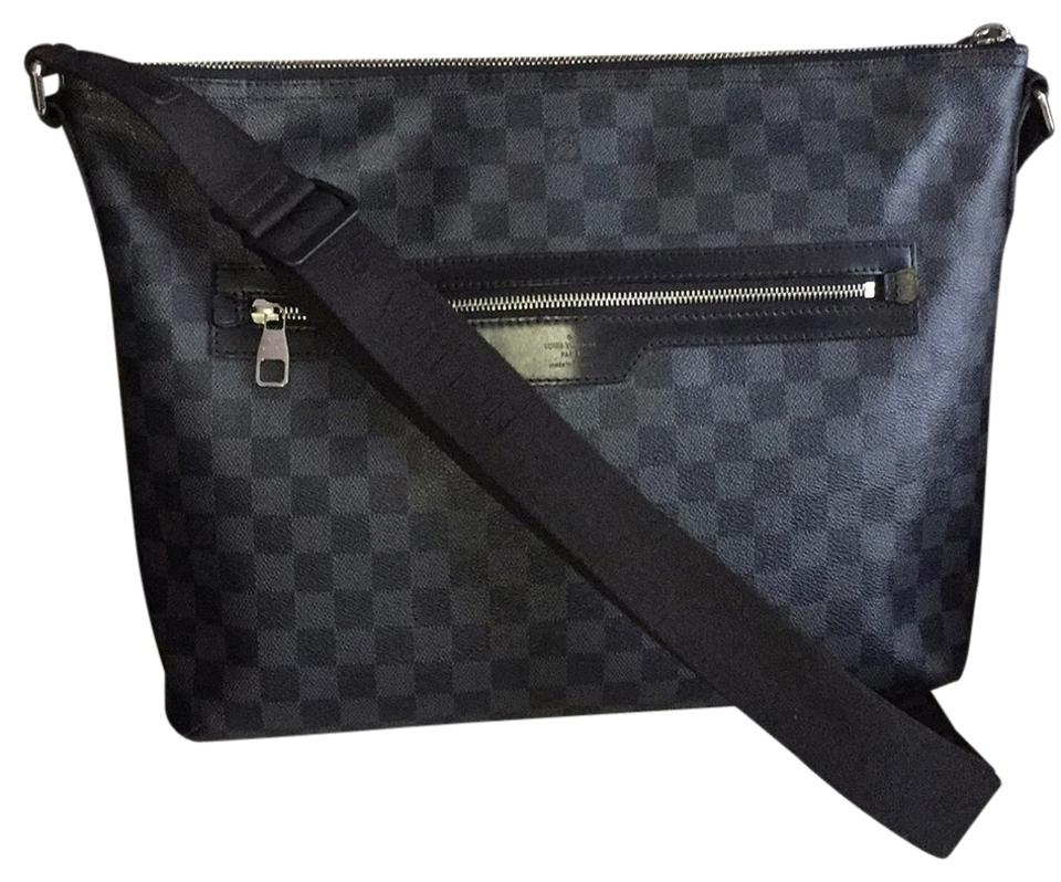 2eb7e4a02834 Louis Vuitton Mick Mm Damier Graphite Messenger Sling Shoulder Tote Laptop  A4 Work Unisex Mens Womens Gray and Black Canvas Leather Cross Body Bag