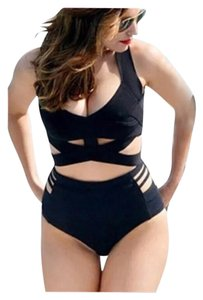 Other New Black Sexy Plus Size 2 PC Wrap Around Bathing Suit Tag Sz 3XL (Fits US 1X-2X Best)