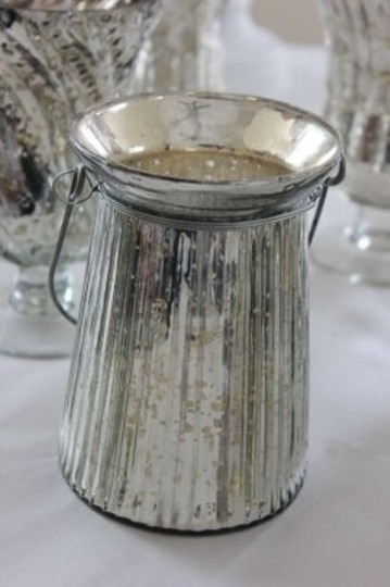 10 Hanging Mercury Glass Lanterns Candle Holders Lantern Silver